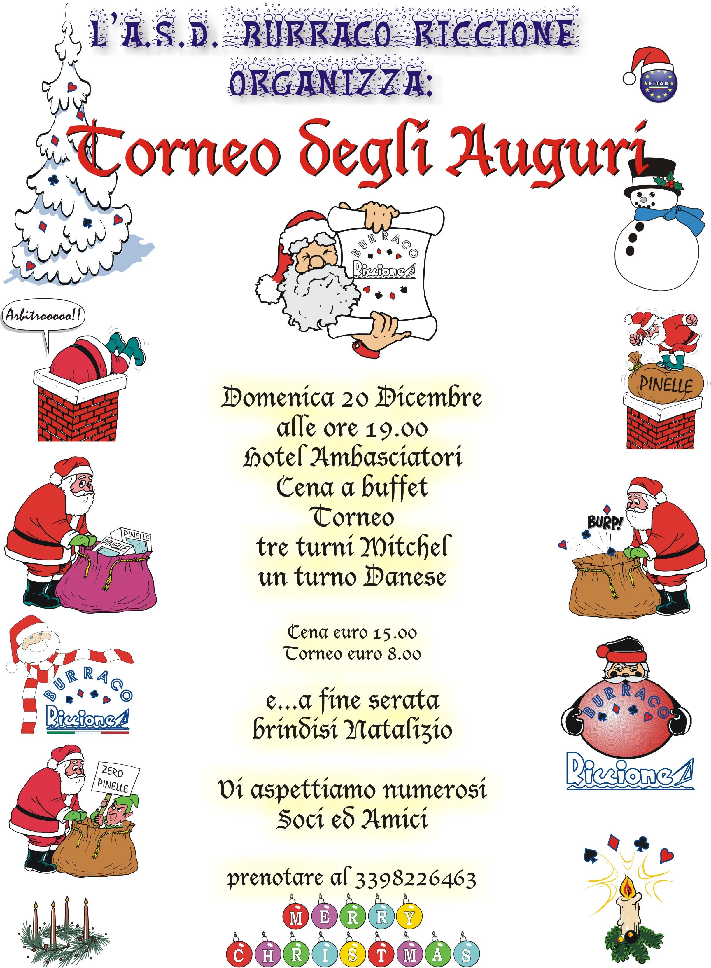Fitab Calendario.Torneo Degli Auguri Asd Burraco Riccione