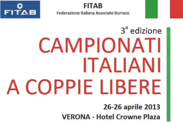 Fitab Calendario.Campionati Italiani A Coppie Asd Burraco Riccione